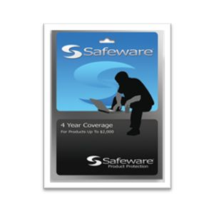 Safeware 4-Year Protection Plan for a product with purchase price starting at $1,001 up to $2,000 (BLUE)