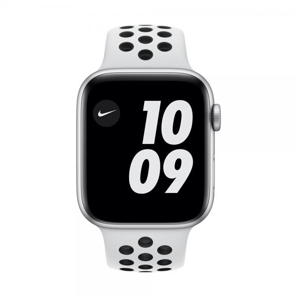 por favor no lo hagas Decir Pasteles  Apple Watch Nike Series 6, 44mm Silver Aluminum Case, Pure Platinum/Black  Nike Sport Band, Cellular