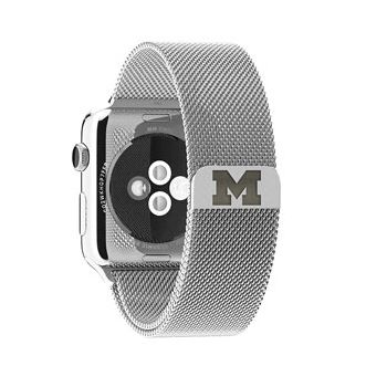 Apple Watch Band, 42/44mm, Block M Milanese Loop