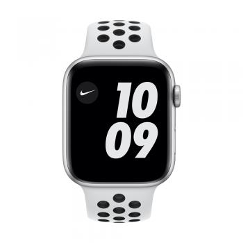 Apple Watch Nike Series 6, 44mm Silver Aluminum Case, Pure Platinum/Black Nike Sport Band, Cellular