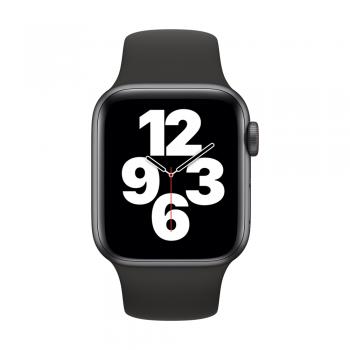 Apple Watch SE, 40mm Space Gray Aluminum Case, Black Sport Band, Cellular