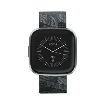 Fitbit Versa 2 Special Edition Smartwatch, Smoke Woven/Mist Gray Aluminum