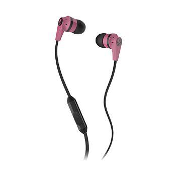 Skullcandy Ink'd 2 Earbud Headphones, Pink/Black