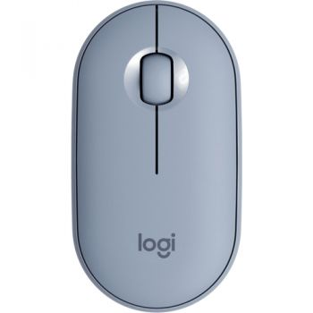 Logitech Pebble M350 Mouse, Blue Grey