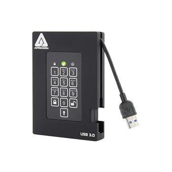 Aegis Padlock Fortress 500GB  USB Hard Drive