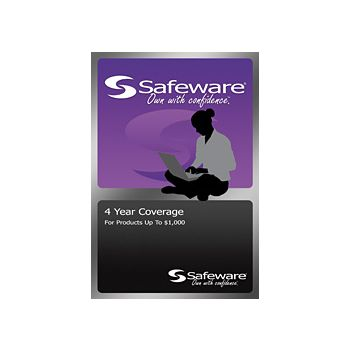 Safeware 4-Year Protection Plan for a product with purchase price up to $1,000 (PURPLE)